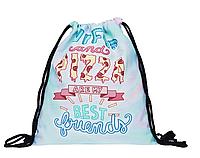 Сумка мешок спортивная на затяжках Wifi and pizza are my best friends
