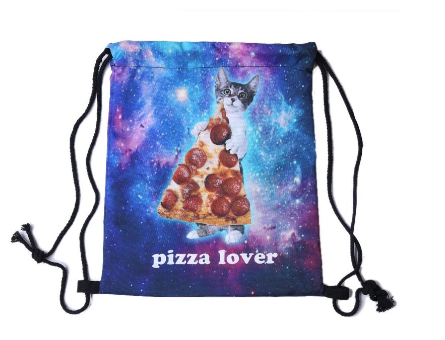 Сумка мешок спортивная на затяжках Pizza Lover