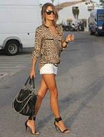 Стильная блуза с леопардовым принтом