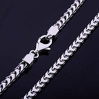 Серебряная цепочка, панцирное плетение