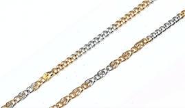 Цепочка фирмы Xuping, цвет: позолота+серебро. Длинна 45 см, ширина 1 мм.