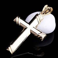 Золотой православный крестик православный