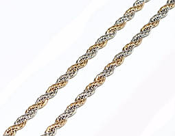 Цепочка фирмы Xuping, цвет: позолота+родий. Длинна 45 см, ширина 2 мм.