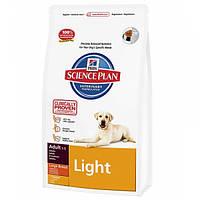 Корм для собак HILL'S HILLS Science Plan Adult Light Large 12 кг для крупних порід при надлишковій вазі