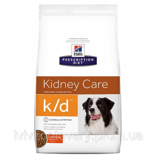 Корм для собак Hill's Hills Prescription Diet Canine K/D 12 кг