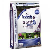 Корм для собак Bosch HPC Soft Senior Land-Ziege & Kartoffel 3x2,5 кг козлятина і картопля