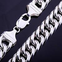 Серебряная цепочка плетение Кобра