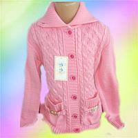 Кофта детская на пуговицах для девочек, р122-140