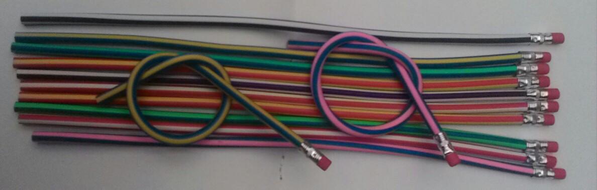 Олівець пластиковий гнучкий 30 см. Ціна за 5 шт