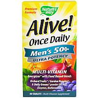 Витамины для мужчин за 50,  Nature's Way, 60 таблеток.