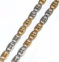 Цепочка фирмы Xuping, цвет: позолота+серебро. Длинна 45 см, ширина 4 мм.