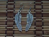 Серьги перья . Индия