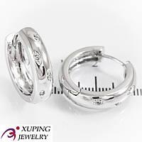 Серьги Еврозолото, кольцо в мелких камнях