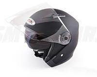 Шлем с очками (открытый со стеклом) Ataki OF512 Solid черный матовый