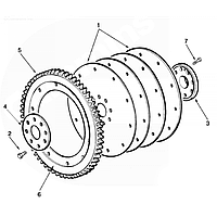 3251637 Диск маховика для двигателя Cummins ISM11 / QSM11
