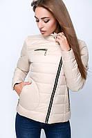 Женская осенняя куртка  22753 бежевая 40-48 размеры