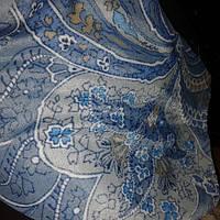 Вискоза холодок голубая огурцы
