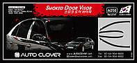 Дефлекторы окон (ветровики) на Шевроле Эванда с 02-06 (клеющие) 4-шт. Корея.