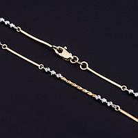 Золотая цепочка из белого и желтого золота, фантазийное плетение