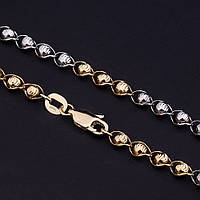 Золотая цепочка, фантазийное плетение