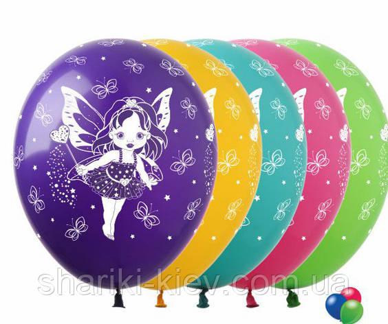 """Шарики воздушные латексные """"Феи"""" разноцветные  30 см. на День рождения, фото 2"""