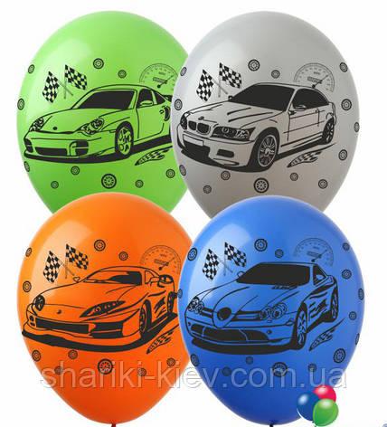 """Шарики воздушные латексные """"Машинки"""" разноцветные  30 см. на День рождения, фото 2"""