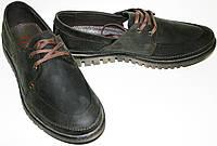Туфли мужские Belvas 1501 нубук, осень весна темно коричневые, комфорт.