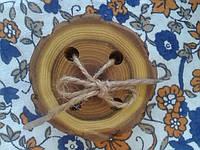 Шнуровка пуговка 8 см из натурального дерева