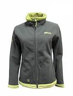 Женская куртка Бия Серый/зеленый ХL