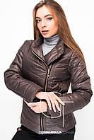 Женская осенняя куртка  20461 шоколад 42-50 размеры