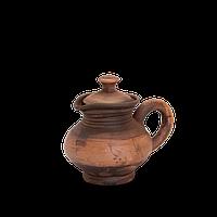 Сметанник глиняный с крышкой Этно EB04 Покутская керамика