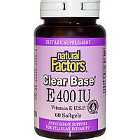 SALE, Витамин Е, Natural Factors, 400 МЕ, 60 капсул