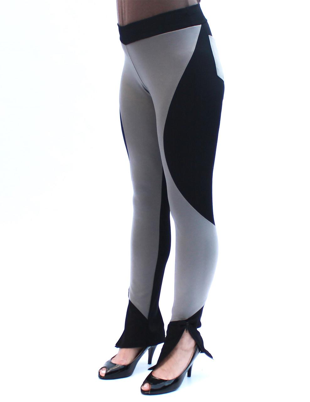 Комбинированные брюки стрейч