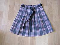 Детская юбка для девочки  Кокетка розовая 3-7 лет