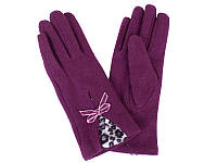 Перчатки женские шерстяные  ETERNO (ЭТЕРНО) E2539-violet