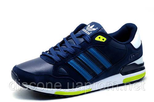 Кроссовки Adidas ZX750 мужские, комбинированные, темно-синие с голубым