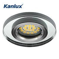 Встраиваемый точечный светильник Kanlux Morta Ø90х10 для ламп MR16, стекло, металл