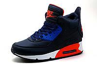 Кроссовки высокие Найк Air Max, темно-синие, фото 1