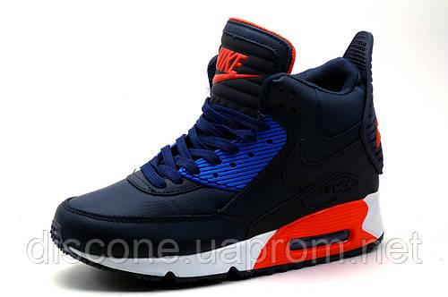 Кроссовки высокие Найк Air Max, темно-синие