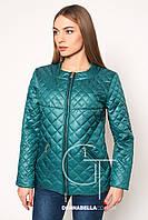 Женская осенняя куртка  20167 зеленая 42-48 размеры