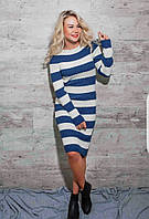 Платье с длинными рукавами и длиной ниже колена