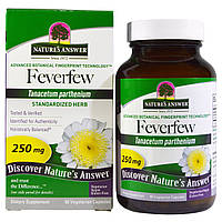 SALE, Пиретрум девичий (Пижма) Nature's Answer, 250 мг, 90 капсул