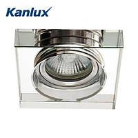 Встраиваемый точечный светильник Kanlux Morta 1хMR16 90x90х20, белое стекло, металл