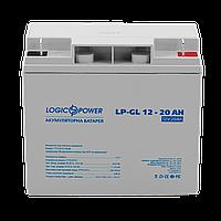 Гелевая аккумуляторная батарея LogicPower 12V 20Ah, фото 1