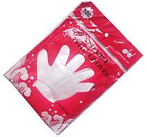 Перчатки одноразовые полиэтиленовые (100шт/уп)