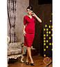 """Женское Красивое платье миди """"  Порыв""""  красное S.M,L,XL"""