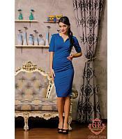 """Женское Красивое платье миди """"  Порыв"""" синее  S.M,L,XL"""