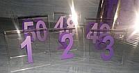Табличка номер на стол Л-образная