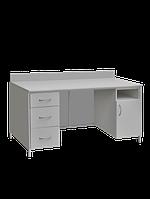 Стол лабораторный с закрывающейся тумбой и выдвижными ящиками СЛ-001.03.04