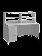 Стол лабораторный с выдвижными ящиками и верхней надстройкой СЛ-001.03.02